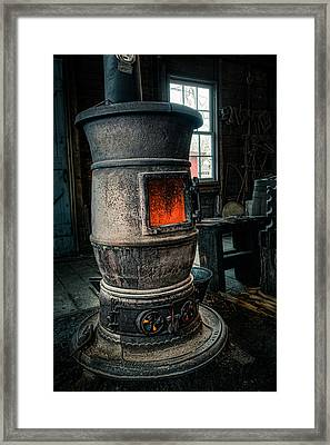 The Blacksmiths Furnace - Industrial Framed Print by Gary Heller