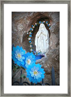 The Blessed Virgin At Mission San Xavier Del Bac Framed Print by Karyn Robinson