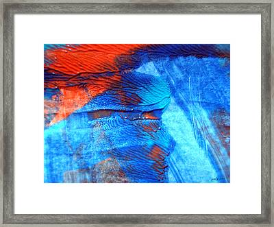 The Blue And Red Affair Acryl Knights Framed Print by Sir Josef Social Critic - ART