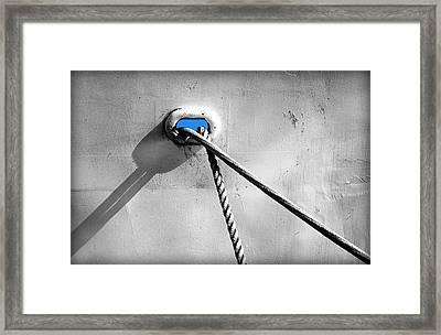 The Blue Beneath Framed Print by Valentino Visentini