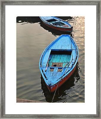 The Blue Boat Framed Print by Kim Bemis