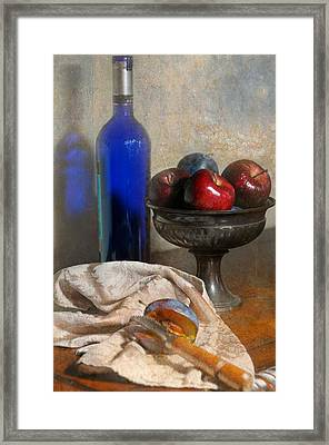 The Blue Bottle Framed Print by Diana Angstadt