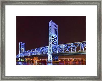 The Blue Bridge - Main Street Bridge Jacksonville Framed Print by Christine Till
