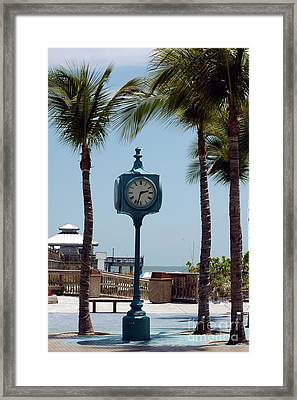 The Blue Clock Framed Print by Kathleen Struckle
