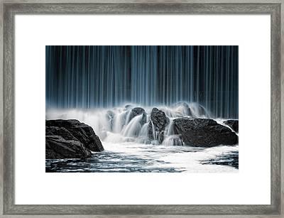 The Blue Curtain Framed Print by Keijo Savolainen
