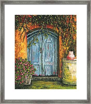 The Blue Door Framed Print by Darice Machel McGuire