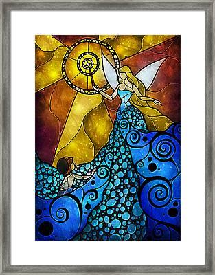 The Blue Fairy Framed Print by Mandie Manzano