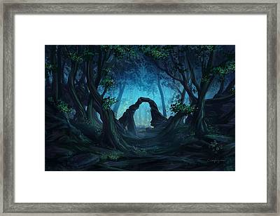 The Blue Forest Framed Print by Cassiopeia Art