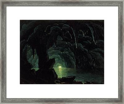 The Blue Grotto Framed Print by Albert Bierstadt