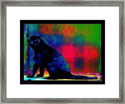 The Blue Jaguar Framed Print by Susanne Still