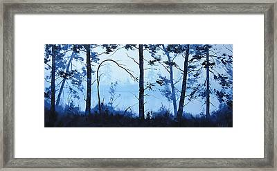 The Blue Lake Framed Print by Graham Gercken