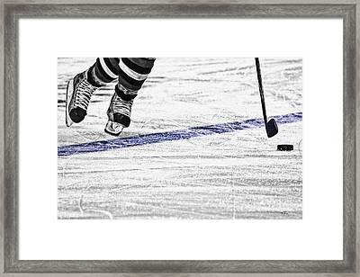 The Blue Line Framed Print by Karol Livote