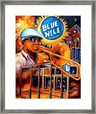 The Blue Nile Jazz Club Framed Print by Diane Millsap