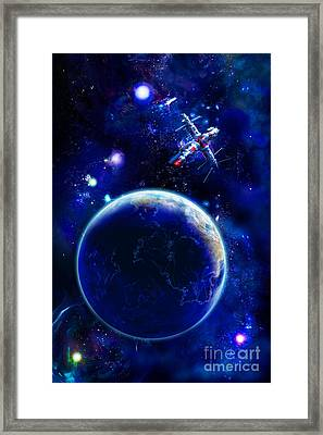 The Blue Planet Seas Of Life Framed Print by Boon Mee