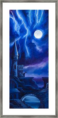 The Blue Tower Framed Print by James Christopher Hill