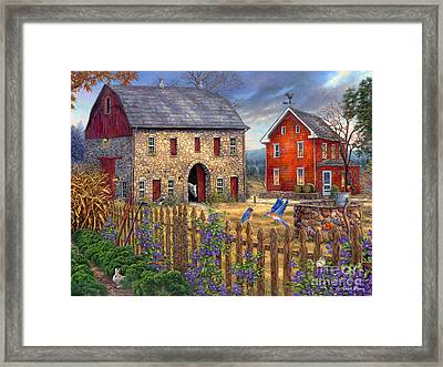 The Bluebirds' Song Framed Print by Chuck Pinson