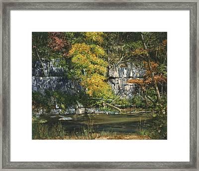The Bluffs River Trail Framed Print by Don  Langeneckert