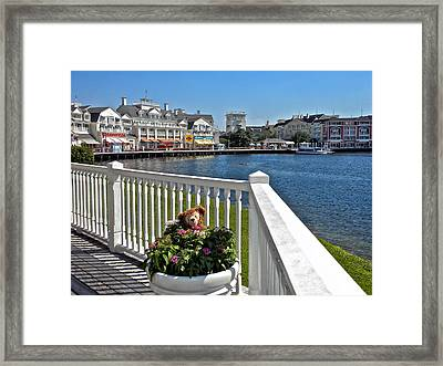 The Boardwalk At Walt Disney World Framed Print by Thomas Woolworth