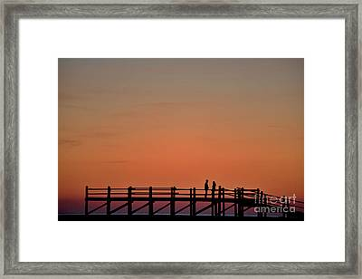 The Boardwalk Framed Print by Heiko Koehrer-Wagner