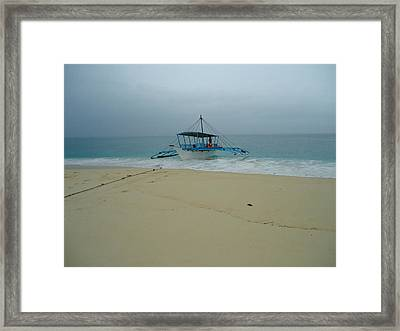 The Boat Framed Print by Fladelita Messerli-