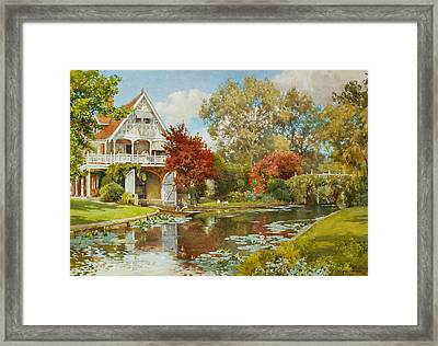 The Boathouse Framed Print by Alfred Parsons