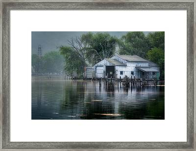 The Boathouse Framed Print by Bill Wakeley