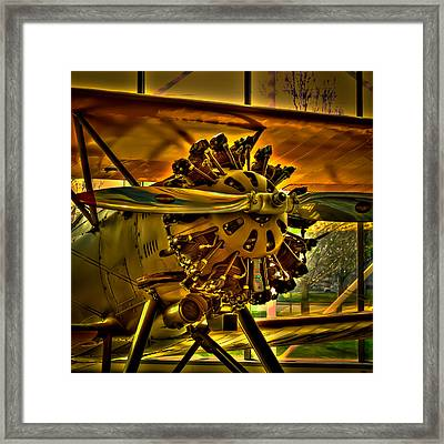 The Boeing Model 100 Biplane Framed Print by David Patterson