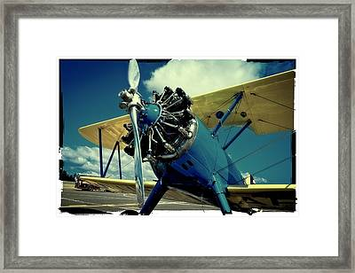 The Boeing Stearman Biplane Framed Print by David Patterson