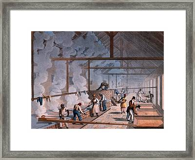 The Boiling House, From Ten Views Framed Print by William Clark