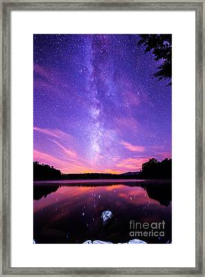 The Bold And Beautiful Milky Way Framed Print by Robert Loe