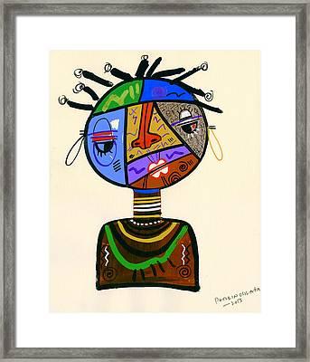 The Bold Face Of Time Framed Print by Oglafa Ebitari Perrin