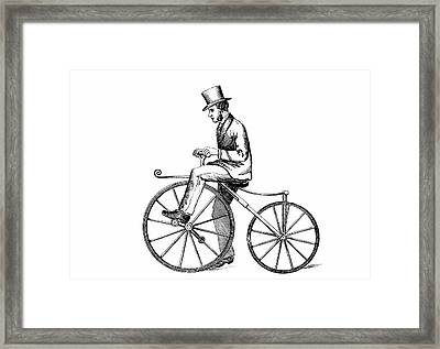 The Boneshaker Bicycle Framed Print by Universal History Archive/uig