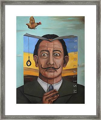 The Book Of Surrealism Framed Print by Leah Saulnier The Painting Maniac