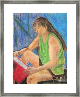 The Book Worm Framed Print by Cori Solomon