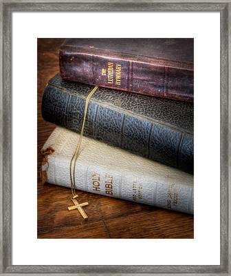 The Books Framed Print by David and Carol Kelly
