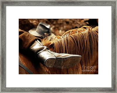 The Boot Rest  Framed Print by Steven  Digman