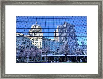 The Boston Skyline Framed Print by JC Findley