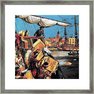 The Boston Tea Party Framed Print by English School