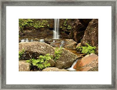 The Bottom Falls Framed Print by Terry Everson