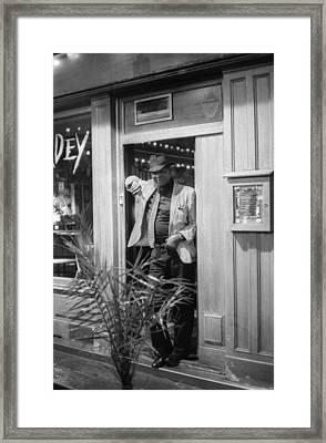 The Bouncer Framed Print by Bernard  Barcos