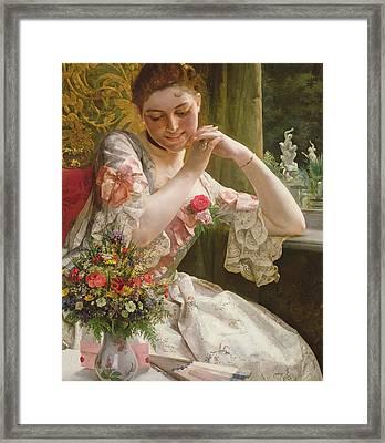 The Bouquet Framed Print by Albert Raudnitz
