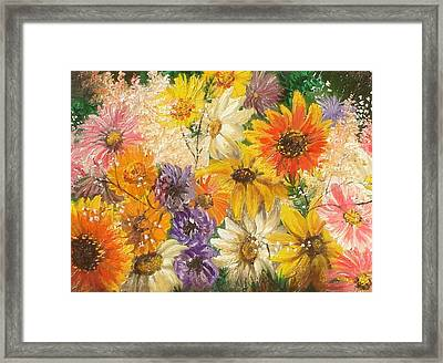 The Bouquet Framed Print by Sorin Apostolescu