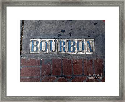 The Bourbon Street Sign Framed Print by Joseph Baril