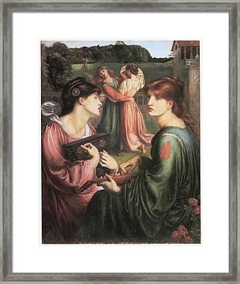The Bower Meadow Framed Print by Dante Gabriel Rossetti