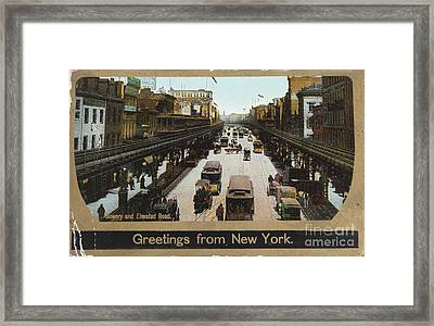 The Bowery In 1906 Framed Print by Patricia Hofmeester