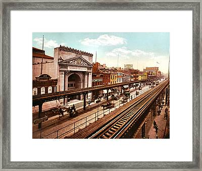 The Bowery New York City 1900 Framed Print by Unknown