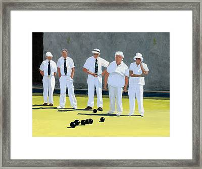 The Bowling Party Framed Print by Karyn Robinson