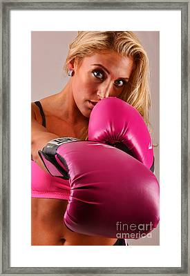 The Boxer - Boxing Framed Print by Lee Dos Santos