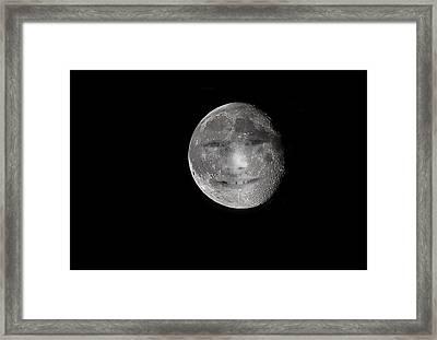 The Boy In The Moon Framed Print by Mr Bennett Kent