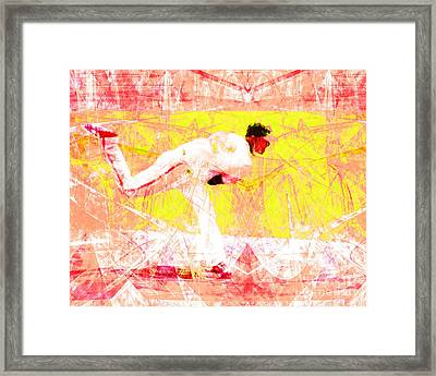 The Boys Of Summer 5d28161 The Pitcher V3 Framed Print by Wingsdomain Art and Photography